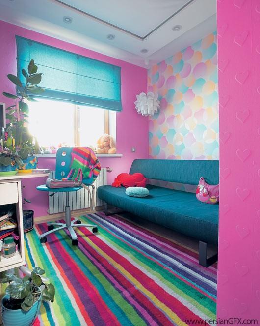 интерьер детской подростковой комнаты.