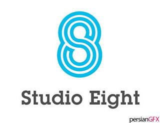 20 لوگوی عجیب و غریب با کارایی فوق العاده | PersianGFX - پرشین جی ...خطوط دنبال هم لوگوی Studio 8 حسی را القا می کند که اجازه می دهد حرف اول یعنی S و عدد 8 در گرافیک لوگو آشکار و قابل شناسایی باشند.