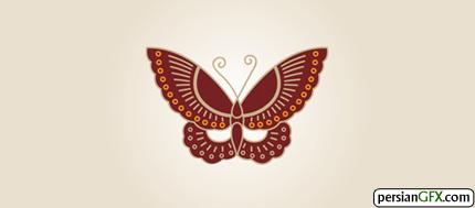 30 طرح زیبا از لوگوی پروانه | PersianGFX - پرشین جی اف ایکسButterfly