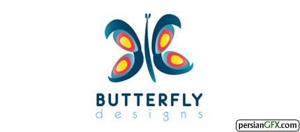 30 طرح زیبا از لوگوی پروانه | PersianGFX - پرشین جی اف ایکسHelfman B