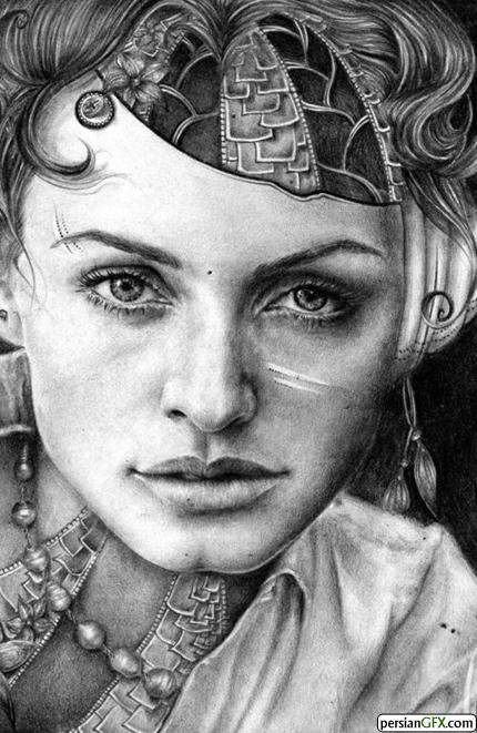 نقاشی های بسیار زیبا با مداد