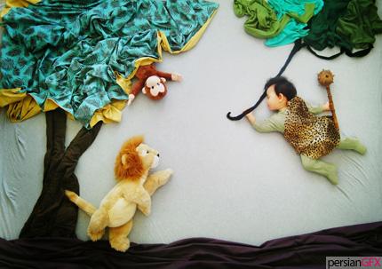 فتوگالری: تصاویر رؤیایی و خلاقانه از لحظات خواب کودکان