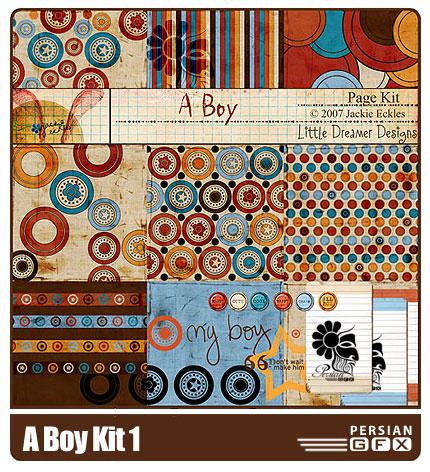 مجموعه تصاویر کلیپ آرت شماره یک - A Boy Kit Clip Art 01