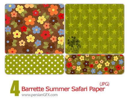 پترن زیبای تابستانی  - Barrette Summer Safari Pattern