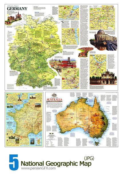 نقشه جغرافیایی جهان - National Geographic Map