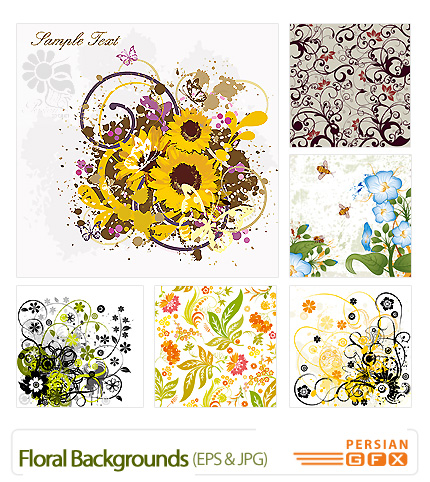 پس زمینه زیبای گلدار -  Floral Backgrounds