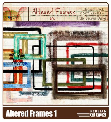تصویر قاب کلیپ آرت شماره یک 14 - Altered Frames 01