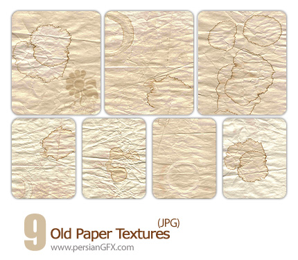 بافت زیبای کاغذ های قدیمی - Old Paper Textures