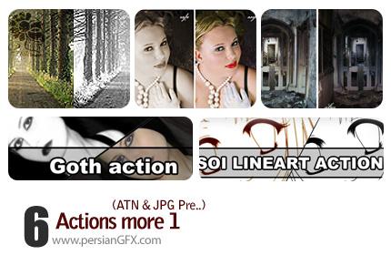 سری جذاب اکشن های سیاه و سفید کننده تصاویر به حالات مختلف - Actions More 01