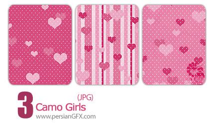 سه نمونه پترن عاشقانه - Camo Girls Pattern