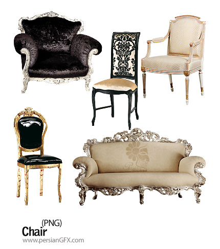 کلیپ آرت صندلی و مبلمان های شیک - Chairs