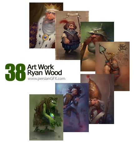 مجموعه آثار هنری رایان وود - Art Work Ryan Wood