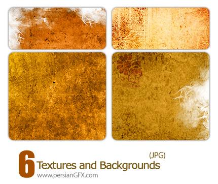 شش نمونه بافت و پس زمینه زیبا - Textures and Backgrounds