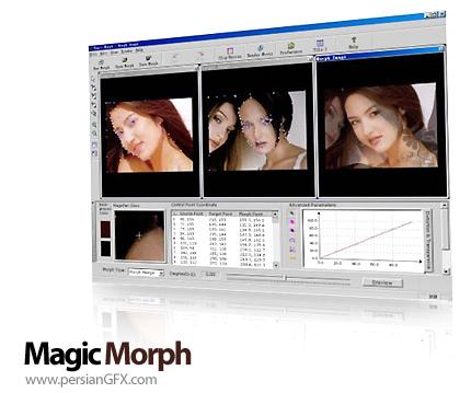 ترکیب دو تصویر با یکدیگر توسط Magic Morph 1.95