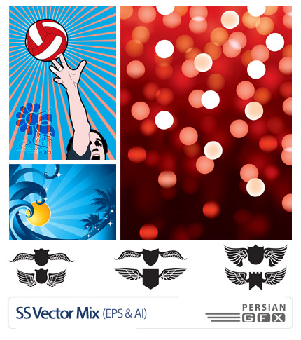 مجموعه تصاویر متنوع وکتور - SS Vector Mix