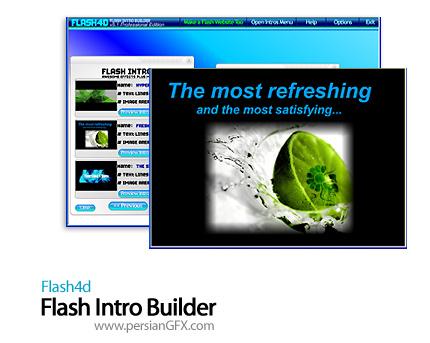 دانلود نرم افزار ساخت فلش های ابتدای سایت - Flash4d Flash Intro Builder 5.1