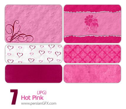 مجموعه پترن های زیبا صورتی - Hot Pink