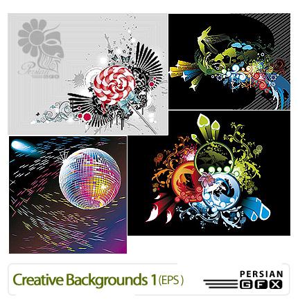 وکتورهای زیبا برای زمینه شماره یک  - Creative Backgrounds Vector 01
