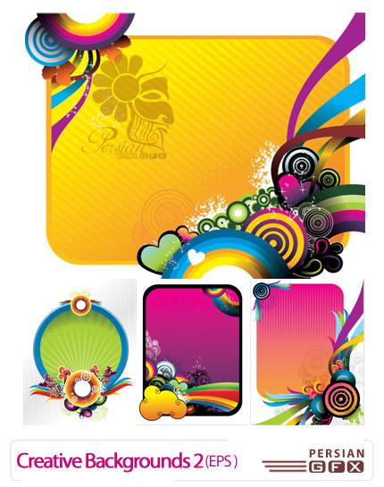 وکتورهای زیبا برای زمینه شماره دو - Creative Backgrounds Vector 02