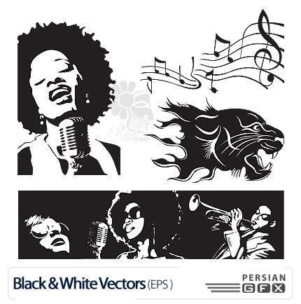 تصاویر وکتور سیاه و سفید - Black & White Vector