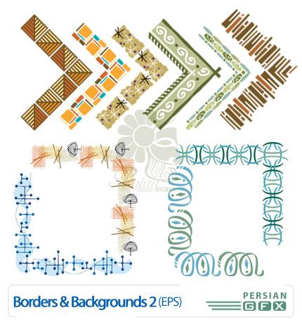 تصاویر وکتور حاشیه و زمینه شماره دو - Borders & Background Vectors 02