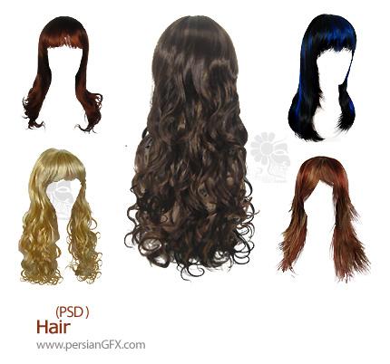 تصاویر لایه باز مو - Hair PSD