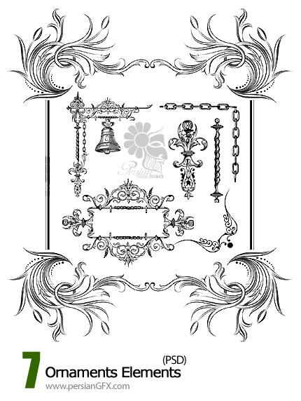 تصاویر لایه باز قاب و حاشیه های تزیینی  - Ornaments Elements