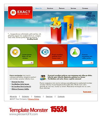 یک نمونه قالب وب سایت  - Template Monster 15524