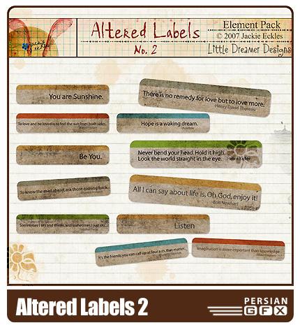 مجموعه تصاویر کلیپ آرت اتيکت شماره دو - Altered Labels 02
