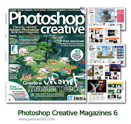 مجله آموزش فتوشاپ شماره شش - Photoshop Creative Magazines 06