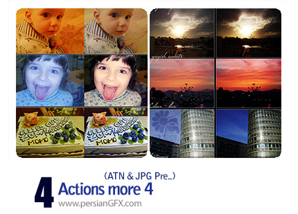 سری جذاب اکشن های تغییر رنگ کلی تصاویر - Actions More 04