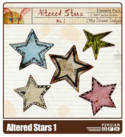 مجموعه تصاویر کلیپ آرت ستاره شماره یک - Altered Stars 01