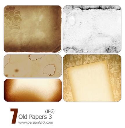 پترن های زیبای کاغذ های قدیمی شماره سه  - Old Paper Pattern 03