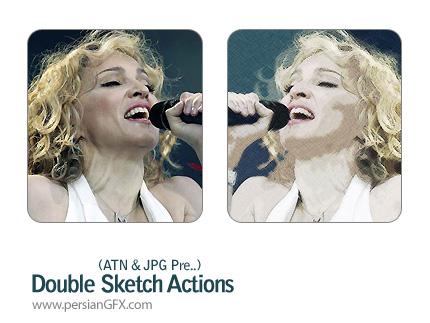تبدیل تصاویر به نقاشی - Double sketch Action