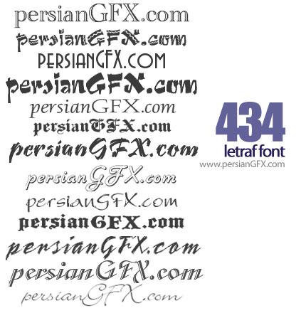 چهارصد و سی و چهار فونت انگلیسی هنری - Letraf English Font