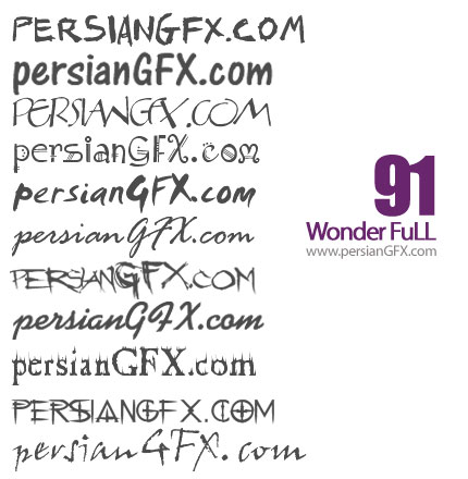 نود و یک فونت انگلیسی گرافیکی - Wonder Full Font