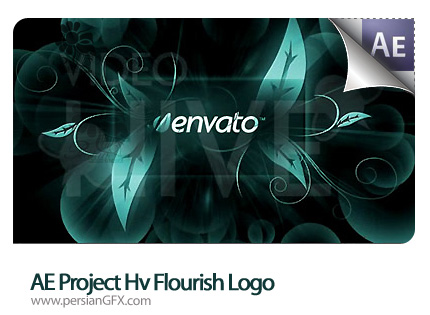 نمونه آماده افترافکت برای نمایش جالب یک لوگو به همراه آموزش  - AE Project VH Flourish Logo