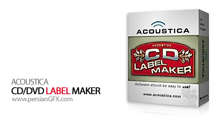 ساخت برچسب های CD توسط Acoustica CD/DVD Label Maker 3.32