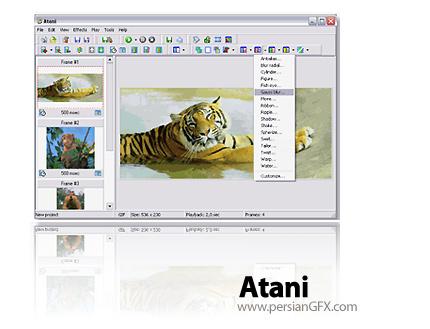 طراحی و ساخت تصاویر متحرک با GIF Atani 4.5.2