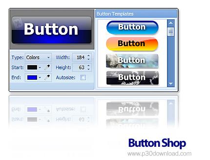 ساخت دکمه های زیبا برای وب سایت توسط  Button Shop 4.16