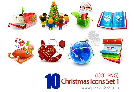 کلکسیون آیکون های کریسمس - Christmas Icons Set