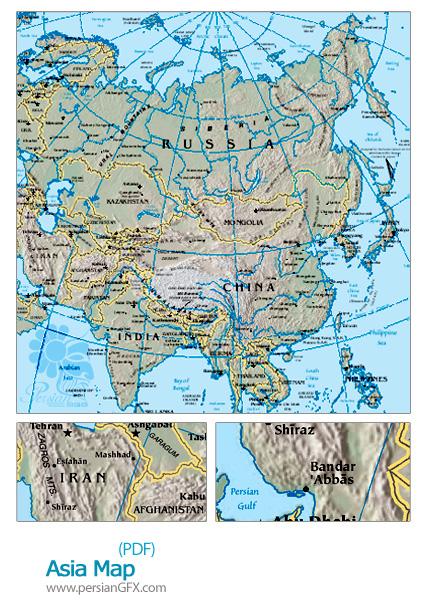 نقشه آسیا - Asia Map