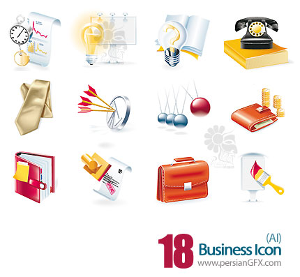 پک وکتور آیکون های تجاری - Business Icon