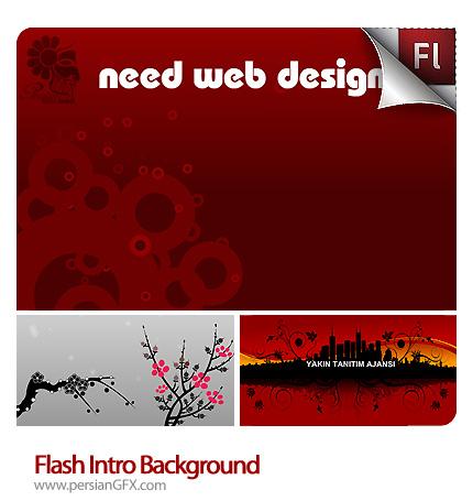 نمونه آماده طرح های هنری پس زمینه فلش - Flash Intro Background
