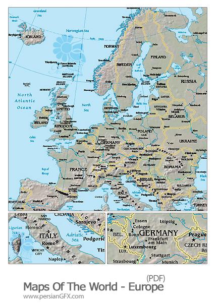 نقشه جغرافیایی قاره اروپا - Maps Of The World Europe