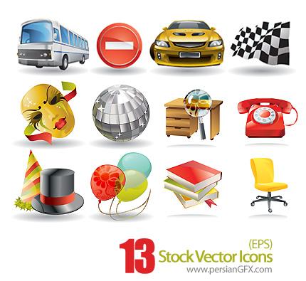 مجموعه آیکون های وکتور - Stock Vector Icons