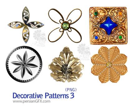 دانلود کلیپ آرت تزیینی شماره سه - Decorative Patterns 03