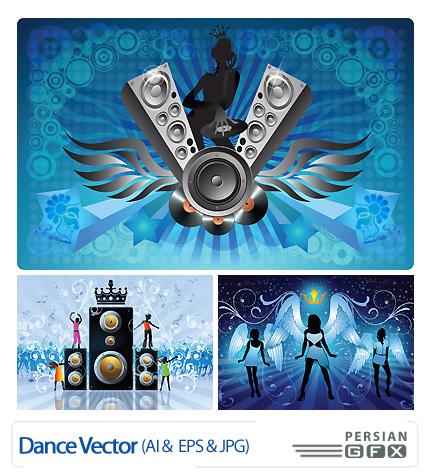 تصاویر وکتور موسیقی و رقص - Dance Vector
