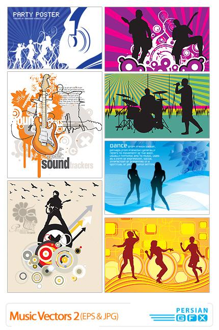 تصاویر وکتورموسیقی شماره دو -Music Vectors 02