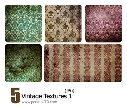 بافت کاغذ دیواری طرح دار شماره یک - Vintage Textures 01
